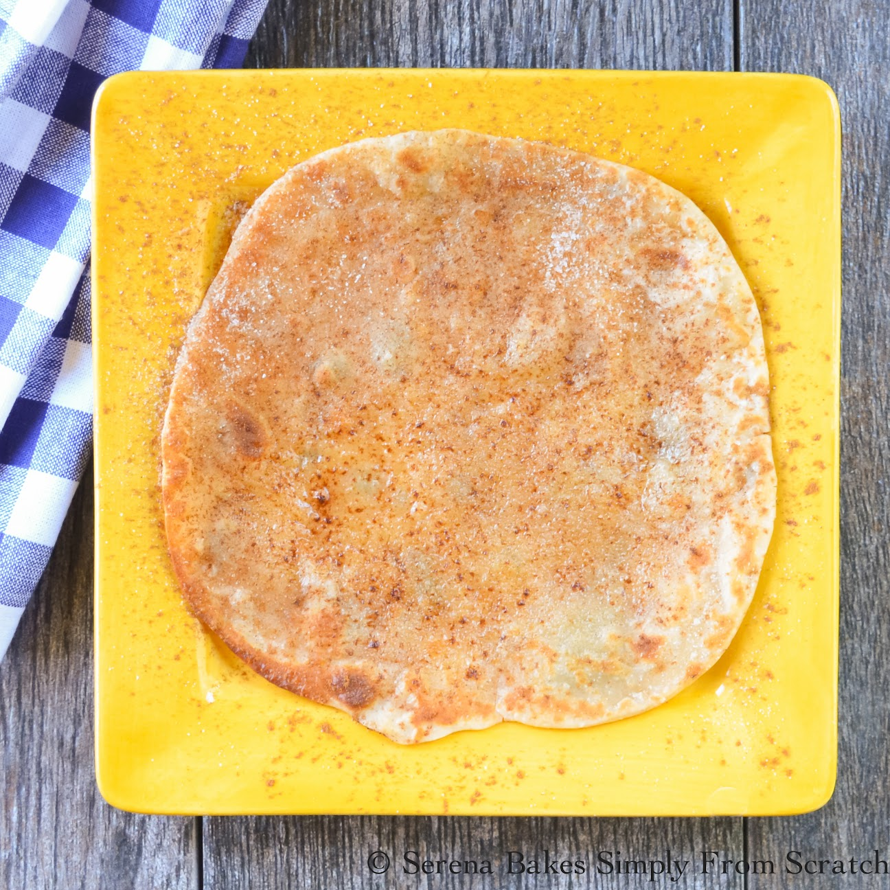 Cinnamon Sugar Tortillas are an easy to make dessert.