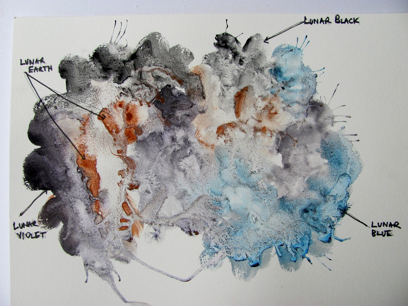 The Watercolour Log Daniel Smith Lunar Colours