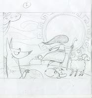 ilustración cuento andino