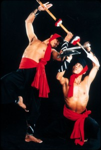 Thang-ta, the traditional martial art dance of Manipur, being performed with spear and sword