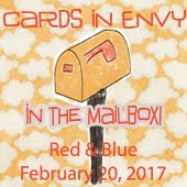 Cards In Envy~In the Mailbox (Red & Blue Challenge)