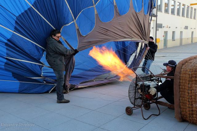Przygotowanie do startu - lot balonem