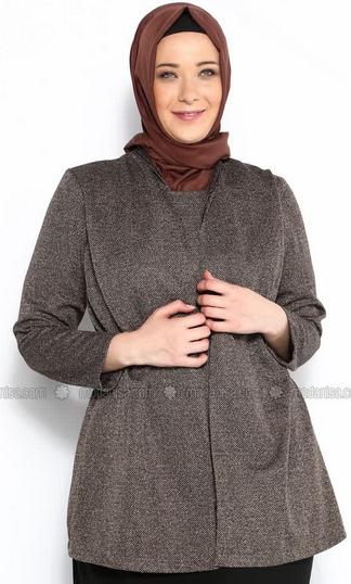 model baju Muslim batik kerja untuk wanita gemuk Terbaru