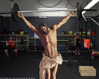 So schlank und stark wie Jesus Christus - Glauben Gewichtheben lustig