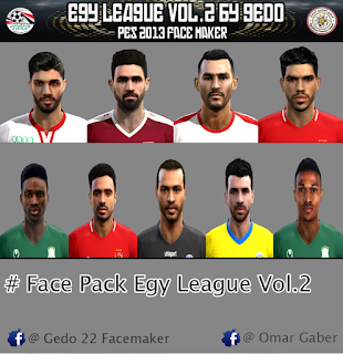 Faces Pack Egy League V2 by Omar Gaber For PES 2013 PC