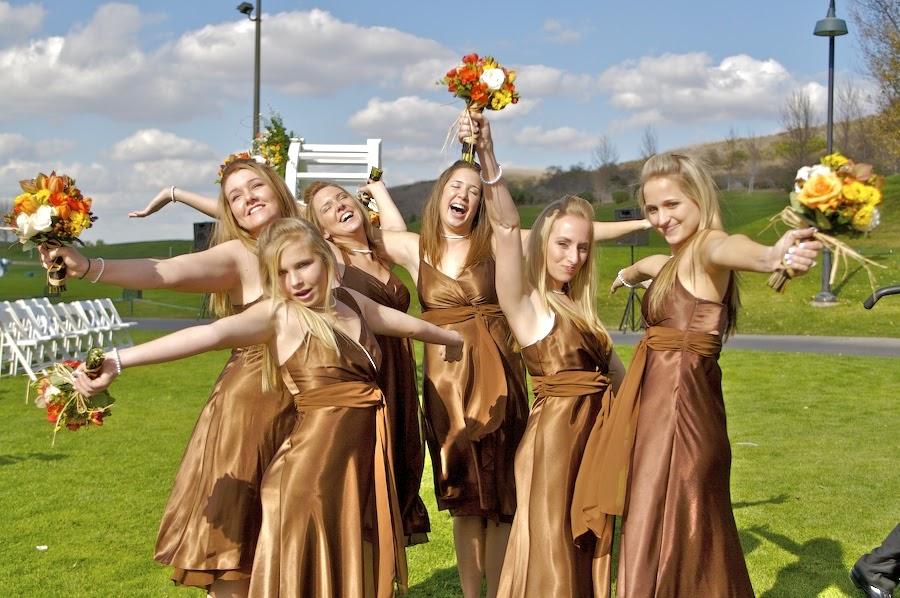 Bridesmaids Gowns Caramel Bridesmaids