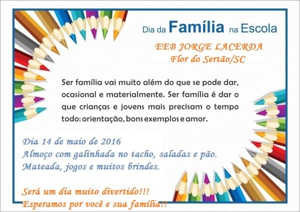 Frases Para O Dia Da Familia Na Escola