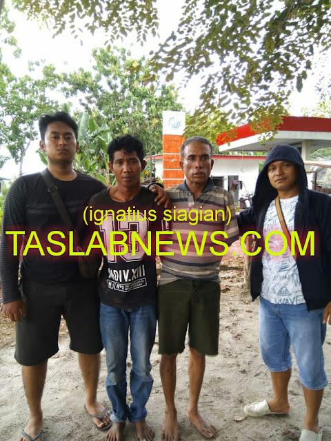 Kedua tersangka yakni Rahmat Syahputra Nainggolan (35) dan Ilham Yos (48) saat diamankan oleh petugas Sat Res Narkoba Polres Tanjungbalai, Kamis (23/8) siang pukul 13.00 Wib.