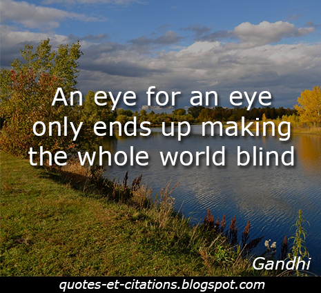 citation oeil pour oeil