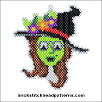 Click to view the Witch Witch Glasses Halloween brick stitch bead pattern charts.
