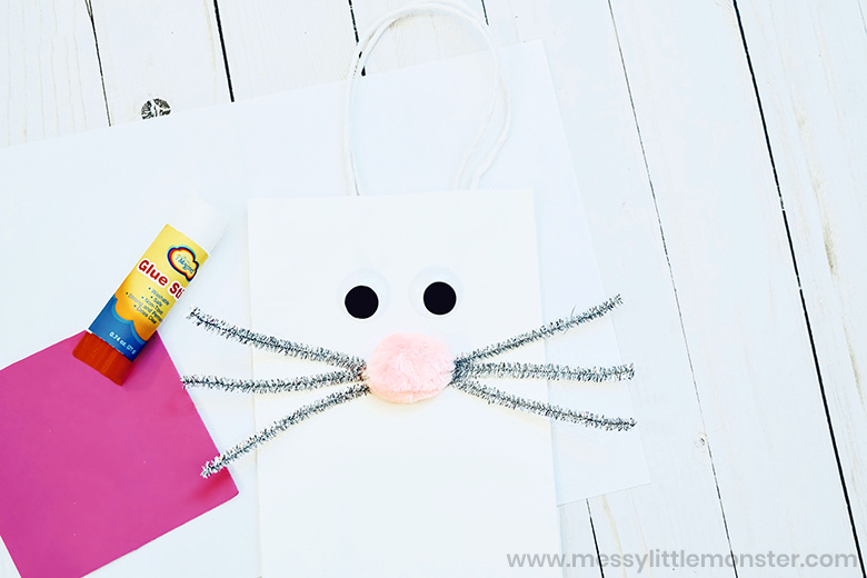 Easter bunny paper bag craft