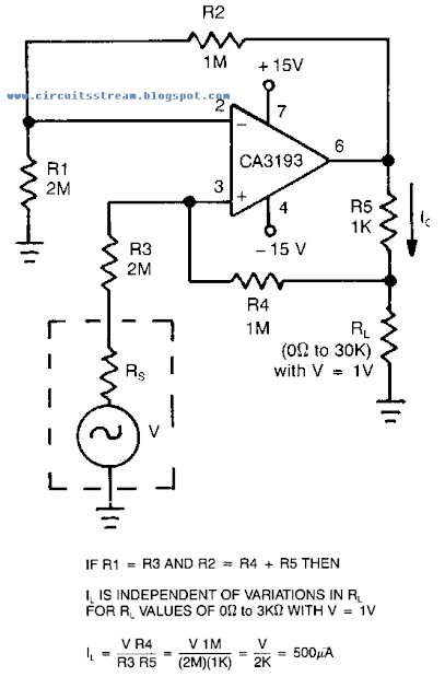 Simple Bilateral Current Source Circuit Diagram