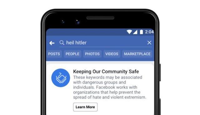 Facebook Melarang Konten Nasionalis dan Separatis kulit putih?