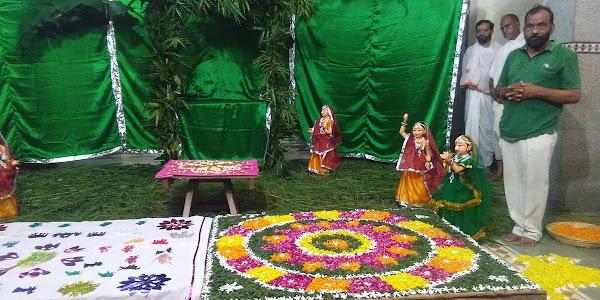 श्री गोवर्धन नाथ मंदिर में शनिवार को सांजी पर्व का हुआ भव्य आयोजन