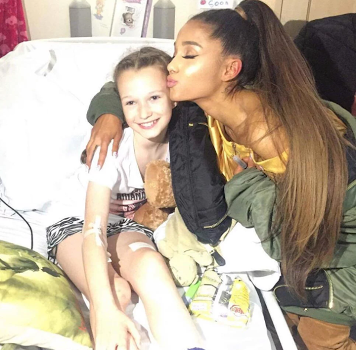 1 - Singer, Ariana Grande paid a visit to young fans injured in the Manchester terror attack in hospital