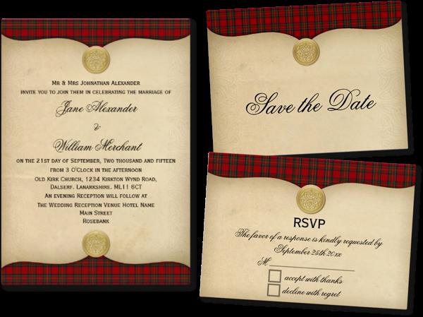 Wedding Invites Scotland: Wedding Cards And Gifts: Vintage Royal Stewart Tartan