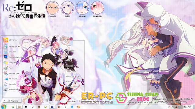 Download Tema Windows 7 Re:Zero Ver. 2 by Enji Riz