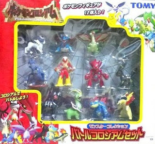 Pokemon figure Tomy Monster Collection Battle Consortium Set