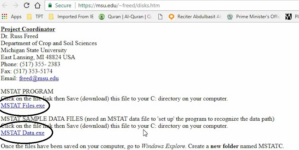 Data analysis with MSTATC: How to download and install MSTAT C