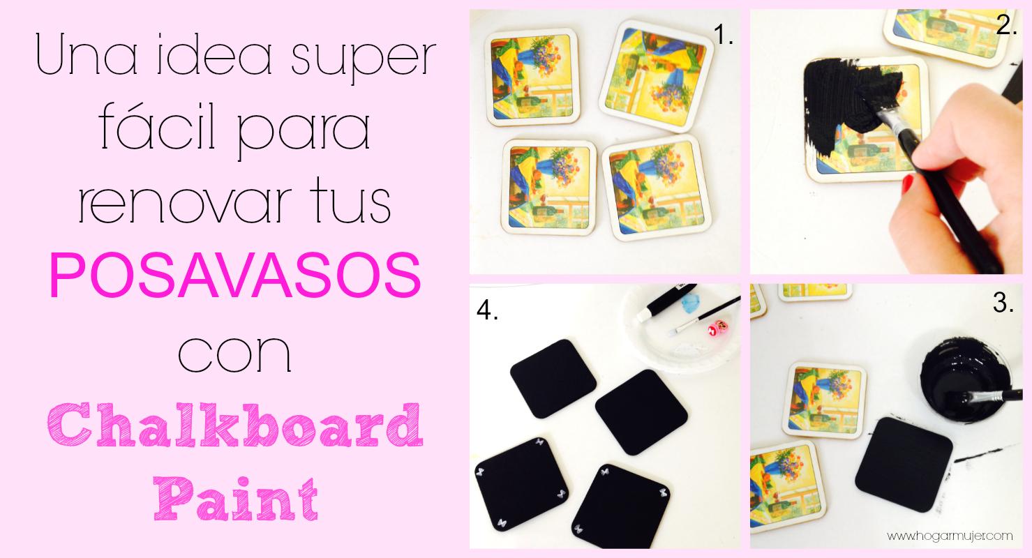 #DIY #coasters #chalkboardpaint #hazlotumisma
