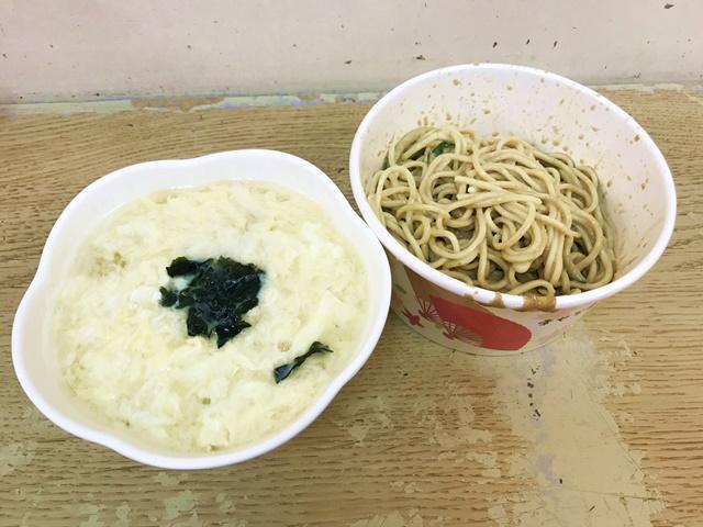 素食涼麵+素食味噌湯