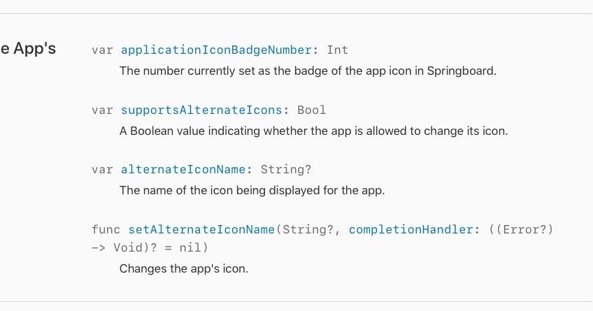 Change an iOS App icon programmatically?