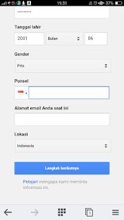 Cara daftar email gmail di hp android