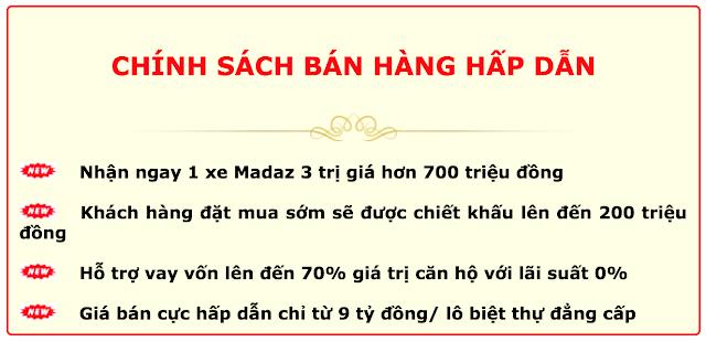 Chính sách bán hàng biệt thự Dương Nội