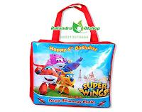 tas souvenir,tas souvenir ultah,souvenir ultah,tas ulang tahun,tas ultah murah,tas ultah super wings, kartun super wings