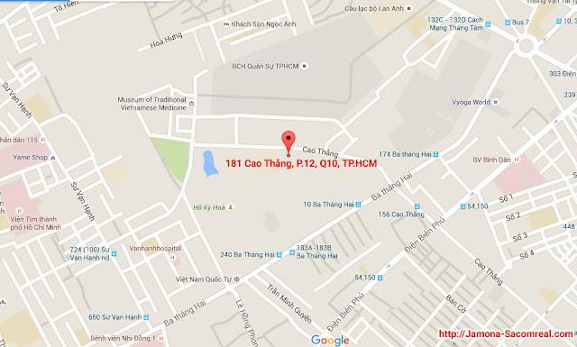 Bản đồ vị trí dự án Charmington Lapointe 181 Cao Thắng, phường 12, quận 10, TP.HCM