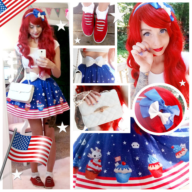 I donu0027t know if it is supposed to be but this print looks pretty damn American if you ask me. Kawaii American. Just like me! D  sc 1 st  Alexau0027s Style Blog & Alexau0027s Style Blog: Happy 4th of July! Daily Style Post