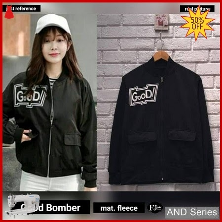 AND271 Jaket Wanita Good Bomber Hitam Jacket BMGShop