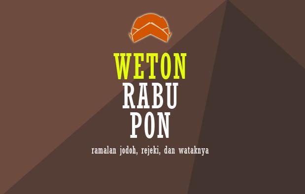 Weton Rabu Pon