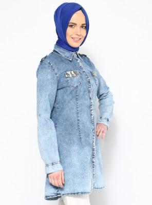 Model Jaket Muslim Jeans Modis dan Trendy Terbaru