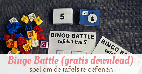 tafels oefenen bingo battle