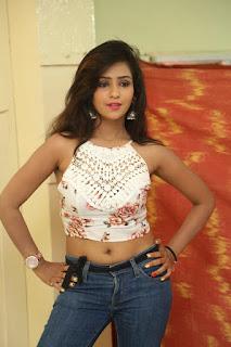 Deekshita Parvathi in a short crop top and Denim Jeans Spicy Pics Beautiful Actress Deekshita Parvathi January 2017 CelebxNext (24).JPG