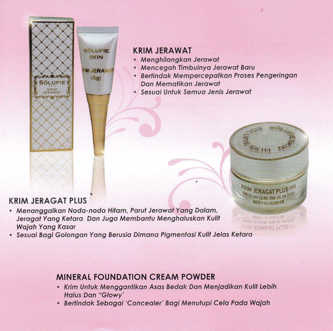 Skin Care Penghilang Jerawat: Solufie Skin Care: Krim Jerawat / Krim Jeragat Plus