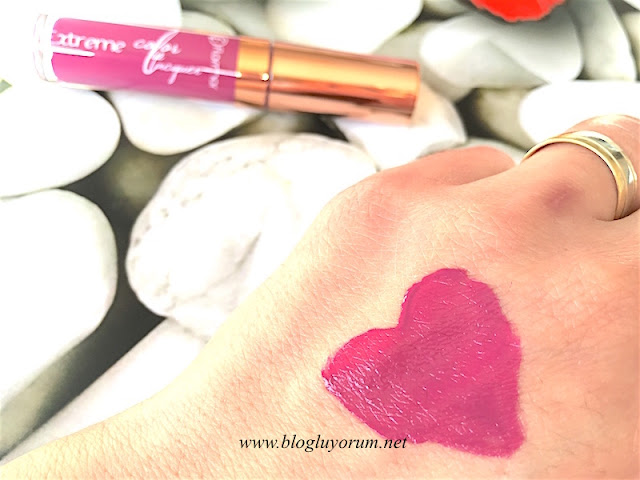 flormar extreme color lip lacquer 10 pop into my mind swatch