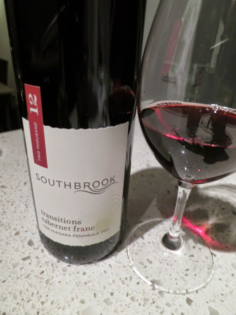 Wine Review of 2012 Southbrook Transitions Cabernet Franc from VQA Niagara Peninsula, Ontario, Canada