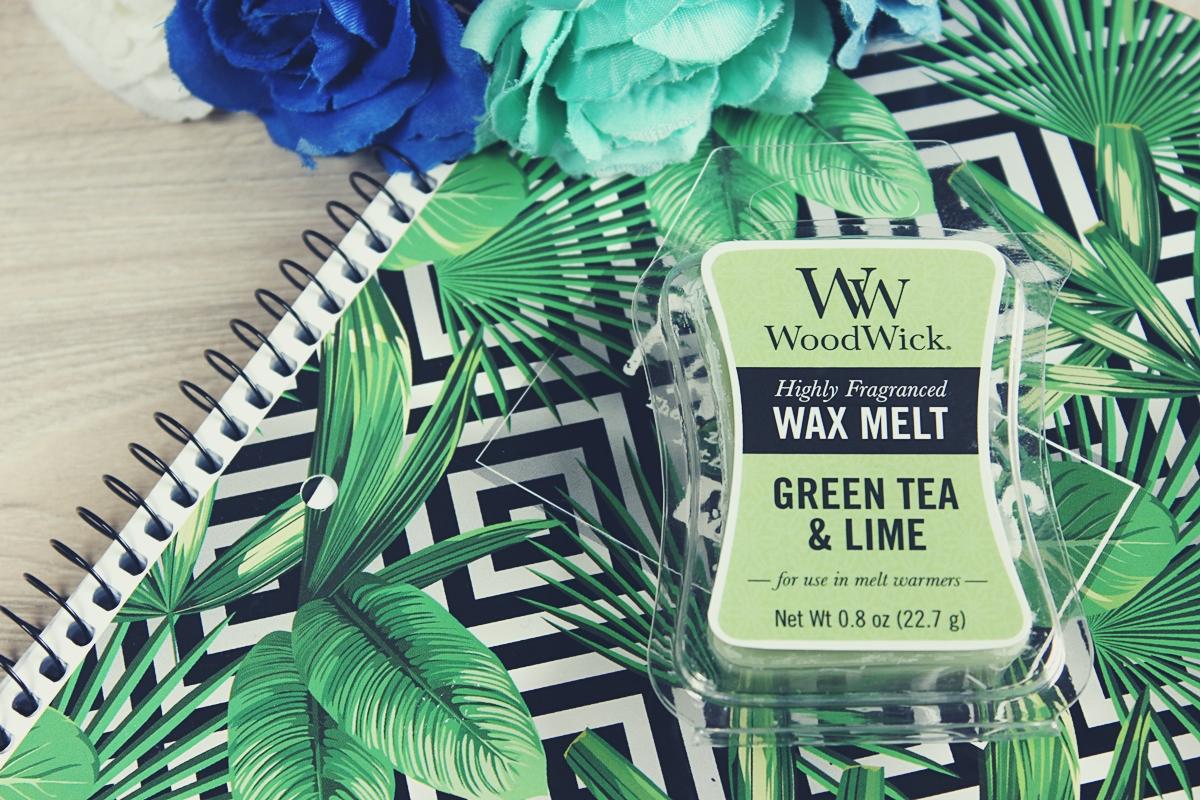 woodwick wosk green tea&lime