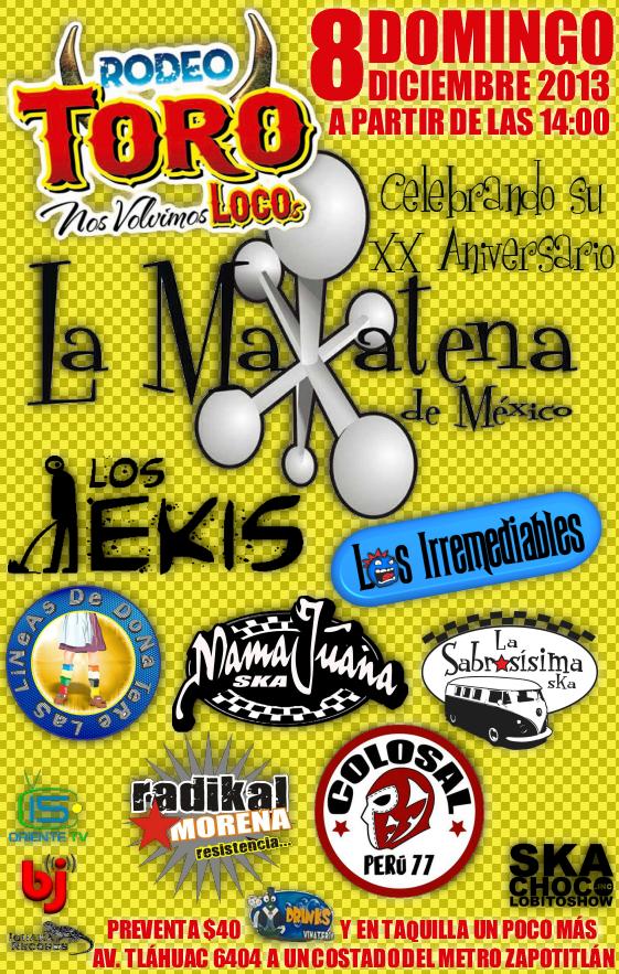20 Aniversario De La Matatena En Rodeo Toro Loco Domingo