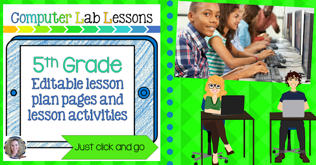 5th grade technology lesson plans and activities for the entire school year that will make a great supplement to your technology curriculum. These lesson plans and activities will save you so much time coming up with what to do during your computer lab time. Ideal for a technology teacher or a 5th grade teacher with mandatory lab time. All of the work is done for you!