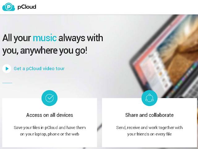 pCloud.com Cloud Storage GRATIS Selain Google Drive