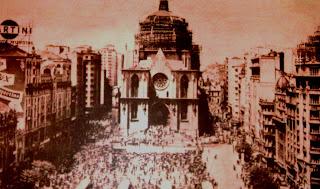 Construção da Cúpula da Catedral da Sé, em São Paulo