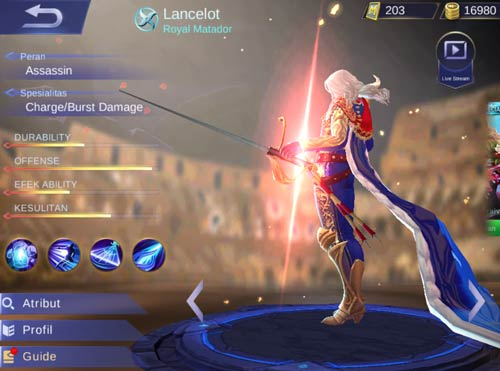 Skin terbaru Lancelot Mobile Legends