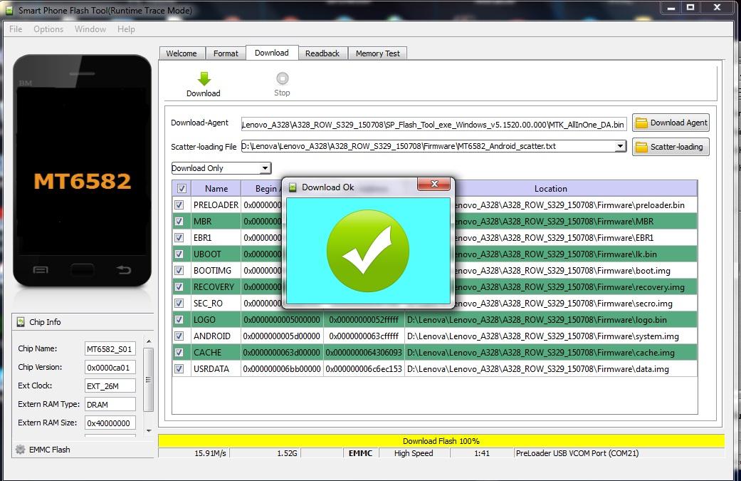 Lenovo A328 Flash File Mt6582 Dead Boot Repair firmware 100