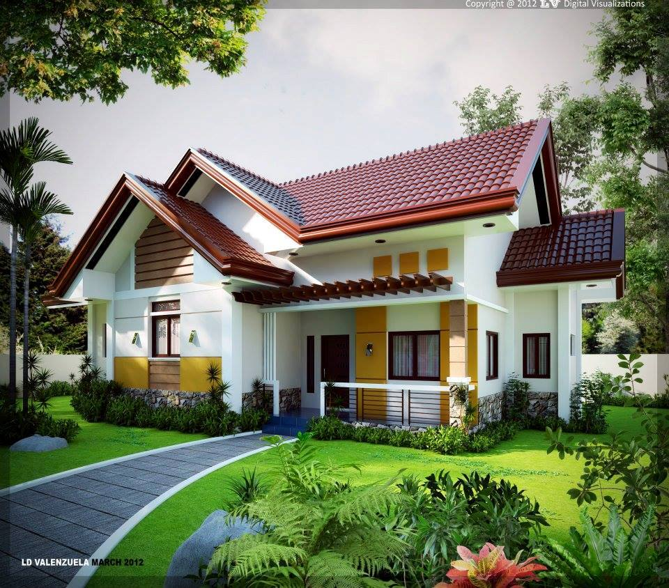 Single storey house design with amazing garden