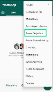 Cara mengirimkan pesan whatsapp secara terjadwal terbaru