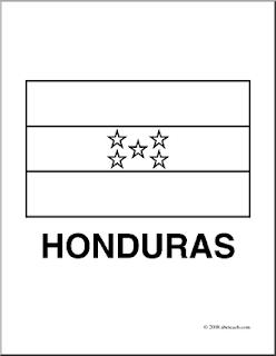 Honduras Flag Coloring Page Honduras Flag Coloring Page