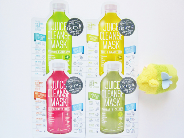Ariul Juice Cleanse Masks Beauty Review